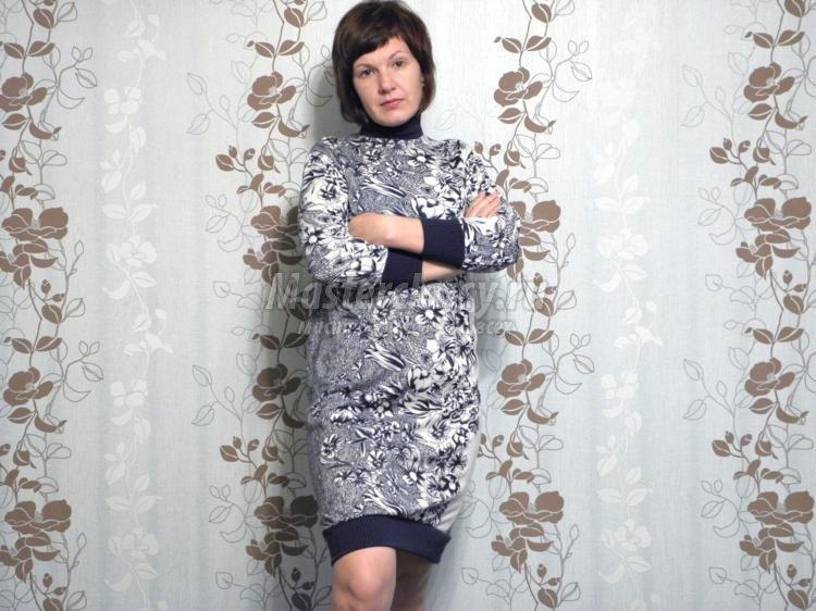 Це може бути тонкий трикотажний матеріал з деяким процентним вмістом  шерсті. Також можна виготовити модна сукня з купонного трикотажу ... 5ba6596362473