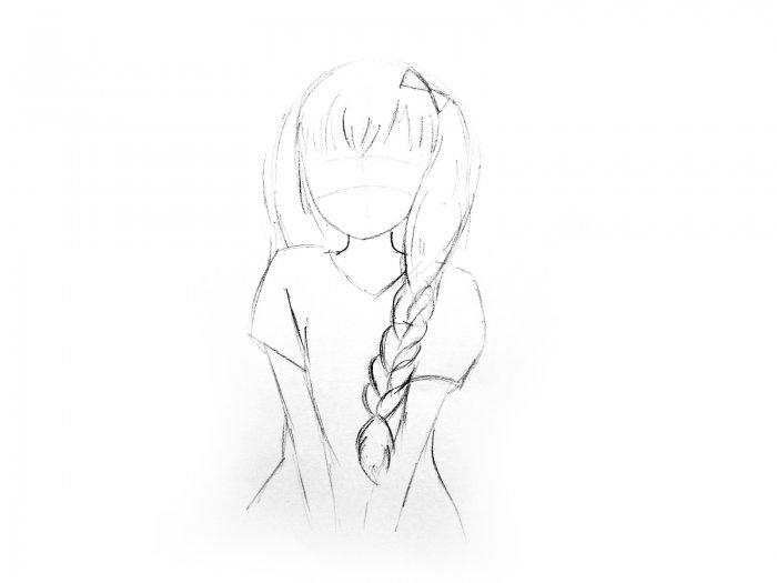 Piccola Matita Semplice Disegno Anime Come Disegnare Una Ragazza