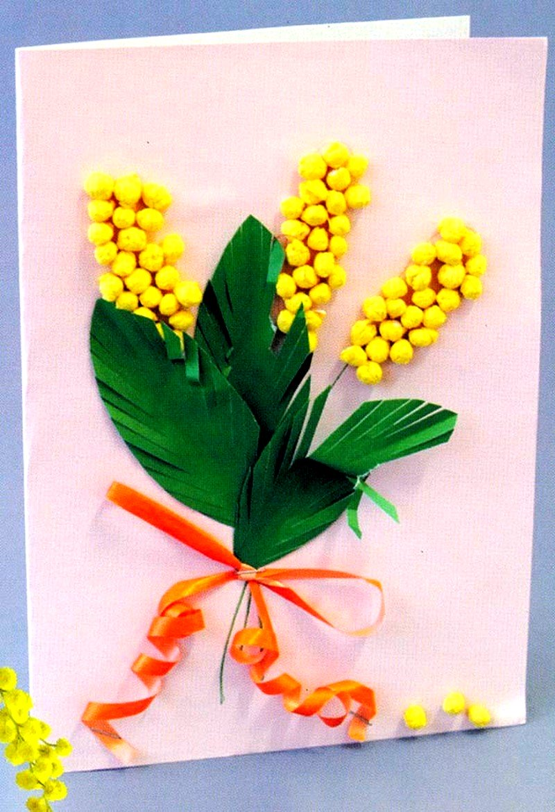 Что можно сделать в открытке на 8 марта бабушке, сделать складную