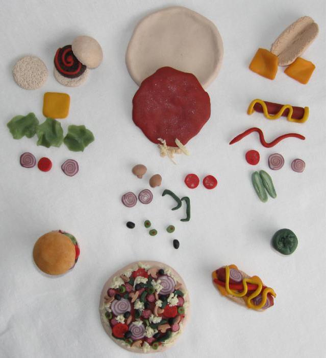 Еда для кукол барби из пластилина